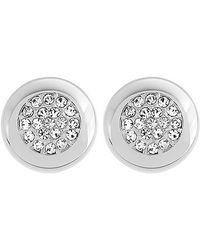 Swarovski | Metallic Stone Stud Pierced Earrings | Lyst
