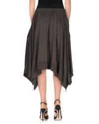 Zucca - Green 3/4 Length Skirt - Lyst
