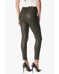 7 For All Mankind Green High Waist Ankle Knee Seam Skinny