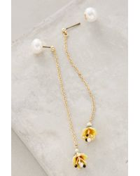 Les Nereides | Yellow Chained Lotus Earrings | Lyst