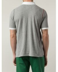 Band of Outsiders - Gray Contrast-Collar Polo Shirt for Men - Lyst