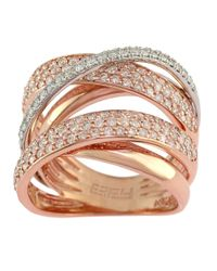 Effy | Pink Diamond And 14k Rose And White Gold Ring, 1.57 Tcw | Lyst
