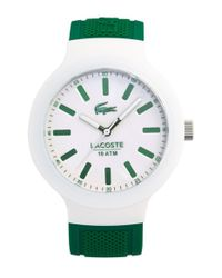 Lacoste - Green 'borneo' Silicone Strap Watch for Men - Lyst