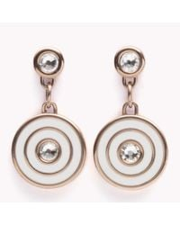 Tommy Hilfiger - Pink Coin Drop Earrings - Lyst