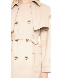 DKNY - Natural Long Sleeve Trench Coat - Lyst