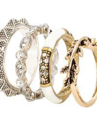 H&M | Metallic 6-pack Rings | Lyst