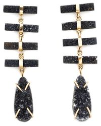 Melissa Joy Manning | Black 14kt Gold Druzy Pendant Earrings | Lyst