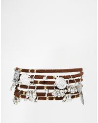 ASOS | Brown 70'S Coin & Cord Multiway Body Jewellery Wrap | Lyst