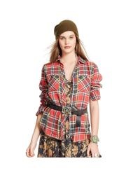 Denim & Supply Ralph Lauren Red Plaid Rl Big Shirt