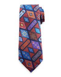 Ermenegildo Zegna | Multicolor Geometric Print Silk Tie for Men | Lyst