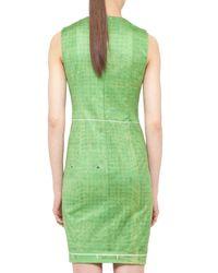 Akris Punto Soccer Field Printed Dress Green