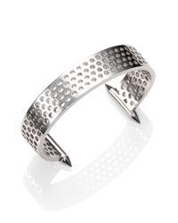 Eddie Borgo | Metallic Aerator Open Cuff Bracelet | Lyst