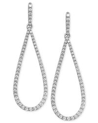 Arabella | Metallic Swarovski Zirconia Drop Earrings In Sterling Silver | Lyst