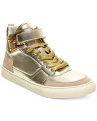 Madden Girl | Metallic Adorree High Top Sneakers for Men | Lyst