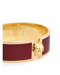 Alexander McQueen | Red Skull Enamel Bangle | Lyst