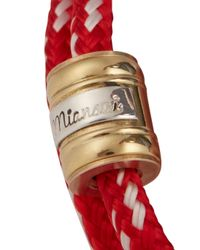 Miansai - Casings Red Rope Wrap Bracelet for Men - Lyst