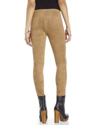 Max Studio | Natural Luxe Seamed Faux Suede Pants | Lyst