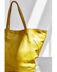 BDG Yellow Seams Leather Tote Bag