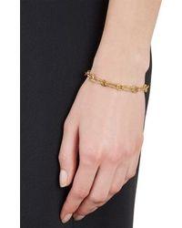 Aurelie Bidermann - Metallic Hammered Gold Chain Bracelet - Lyst