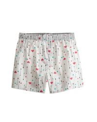 J.Crew | Red Heart and Arrow Boxers for Men | Lyst