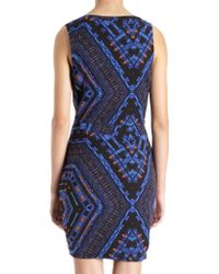 Barneys New York - Blue Abstract Tribal Print Dress - Lyst
