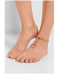 Chloé | Metallic Carly Gold-Tone Anklet | Lyst