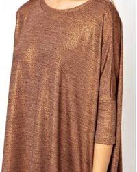 ASOS Metallic T-Shirt Dress