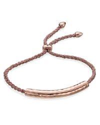 Monica Vinader | Pink Esencia Rose Goldplated Bracelet | Lyst