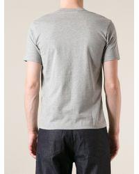 Comme des Garçons Gray Patchwork Tshirt for men