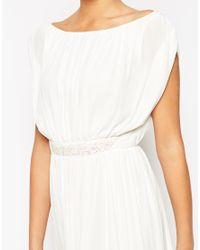 ASOS - Blue Embellished Waist Maxi Dress - Lyst