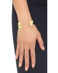 Kacey K | Metallic Kk Open Inital Bracelet | Lyst
