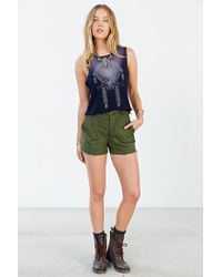 Project Social T - Blue Dreamcatcher Cropped Muscle Tee - Lyst