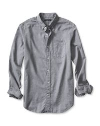 Banana Republic | Gray Slim-fit Luxe-flannel Shirt for Men | Lyst
