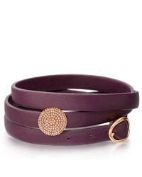 Astley Clarke Multicolor Rose Gold Iris Nappa Leather Bolsena Bracelet