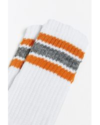 Urban Outfitters - Yellow Stripe Gym Sock for Men - Lyst