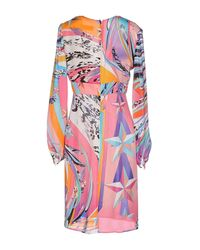 Emilio Pucci Purple Short Dress