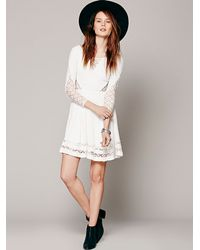 Free People White To The Point Fit & Flare