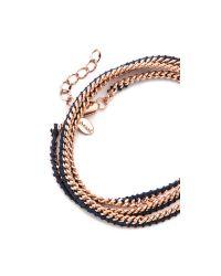 Shashi | Blue Rafi Bracelet - Navy/Rose Gold | Lyst
