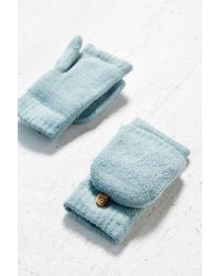 Urban Outfitters | Blue Diamond Convertible Plush Glove | Lyst