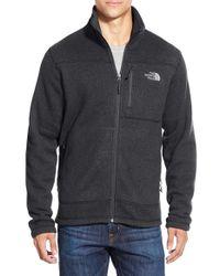 The North Face Black 'gordon Lyons' Zip Fleece Jacket for men