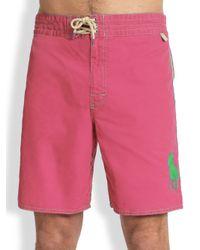 Polo Ralph Lauren   Pink Sanibel Swim Trunks for Men   Lyst