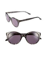 BCBGMAXAZRIA Black 'lacey' 48mm Sunglasses