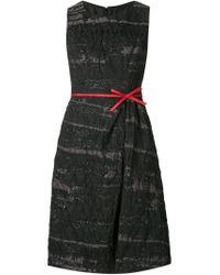 Carolina Herrera - Black Bow Detail A-line Dress - Lyst