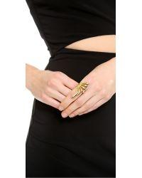 Rachel Zoe - Metallic Safari Cutout Ring - Gold - Lyst