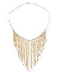 Lana Jewelry Metallic 14k Gold Fringe Choker Necklace
