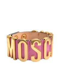 Moschino - Metallic Lettering Bracelet - Lyst