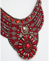 ASOS | Multicolor Ornate Beaded Collar Necklace | Lyst