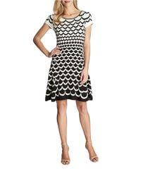 Cece by Cynthia Steffe - White Scalloped Knit Sweater Dress - Lyst