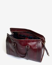 Ted Baker   Purple Exotic Leather Holdall for Men   Lyst