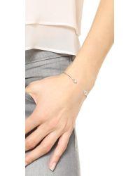 Tai | Metallic Dual Stone Bracelet - Silver/clear | Lyst